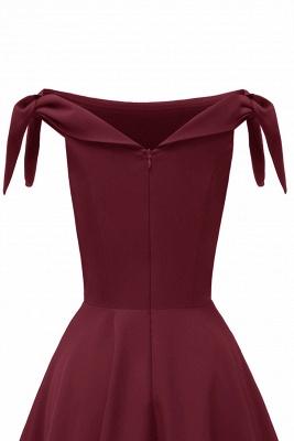 Womens Bateau Burgundy Navy Ruby Vintage Dresses | Retro Princess Short Party Dress_26