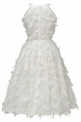 Elegant Halter Feather Princess Vintage Dresses | Retro A-line Burgundy Homecoming Dress_18