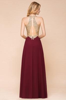Wunderschönes ärmelloses Burgunder-Abendkleid mit V-Ausschnitt | Billiges formelles Kleid_11