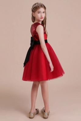 Fabulous Tulle A-line Flower Girl Dress |Graceful Sequins  Little Girls Dress for Wedding_7