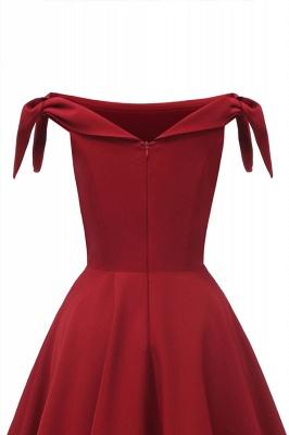 Womens Bateau Burgundy Navy Ruby Vintage Dresses | Retro Princess Short Party Dress_16