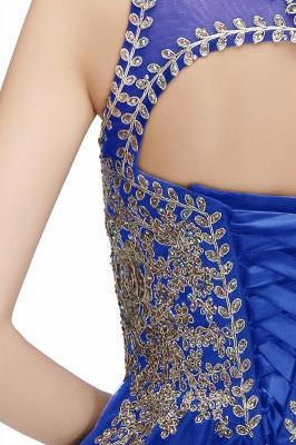 Niedlichen Rundhalsausschnitt Puffy Homecoming Kleider mit Spitzenapplikationen | Perlen ärmellose Open Back Black Teens Kleid für Cocktail_17