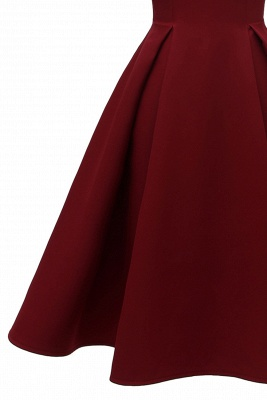 Elegantes U-Ausschnitt Halbarm 50er Jahre Kleid | Vintage Rockabilly Kleid Günstig_9