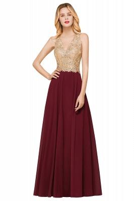Wunderschönes ärmelloses Burgunder-Abendkleid mit V-Ausschnitt | Billiges formelles Kleid_8