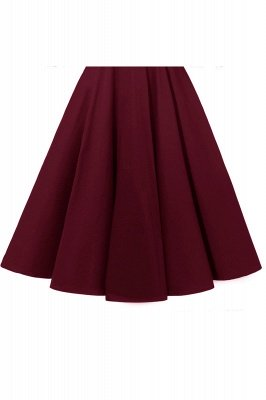 Retro Scoop neck  V-back Lace Dresses with Sleeves | A-line ruffles Burgundy Lace Cocktail Party Dresses_17