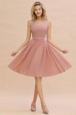 Кружевное длинное короткое платье с V-образным вырезом с поясом | Сексуальное коктейльное платье без рукавов с V-образным вырезом без рукавов_8
