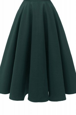 Mancherons sexy robes princesse vintage avec des sangles | Robe de cocktail en émeraude rétro à col en V pour femmes_13
