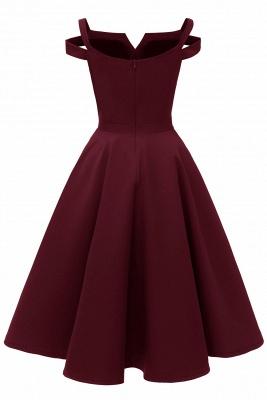 Mancherons sexy robes princesse vintage avec des sangles | Robe de cocktail en émeraude rétro à col en V pour femmes_18