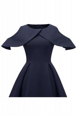 Sexy Scoop neck Half sleeves Front Cross Vintage Dresses | Womens Retro Princess Cocktail Dress_11