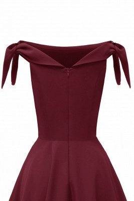 Womens Bateau Burgundy Navy Ruby Vintage Dresses | Retro Princess Short Party Dress_26