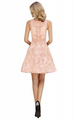 Princess V-neck Knee Length Lace Appliqued Homecoming Dresses | Burgundy Dress for Homecoming_16