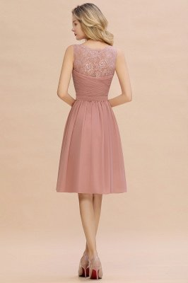 Кружевное длинное короткое платье с V-образным вырезом с поясом | Сексуальное коктейльное платье без рукавов с V-образным вырезом без рукавов_12