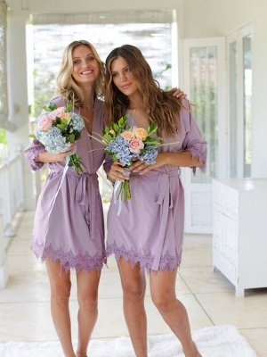 Adult Satin Bridal Robes Silk Floral Robe Dressing Gown Bridesmaid Robes bachelorette gifts Bridal Party Robes_5