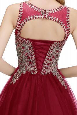 Lindos vestidos de fiesta de cuello redondo hinchados con apliques de encaje | Vestido de adolescentes negro sin mangas con espalda abierta con cuentas para cóctel_28