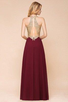 Великолепное бордовое вечернее платье без рукавов с v-образным вырезом | Дешевое Формальное Платье_13