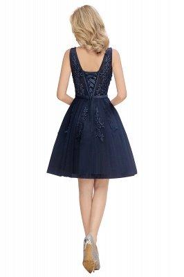 Robes de bal sexy à col en v et à encolure en V sexy avec applications de dentelle | Bourgogne, bleu marine, rose poudré Robe de rentrée_19