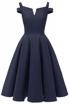 Mancherons sexy robes princesse vintage avec des sangles | Robe de cocktail en émeraude rétro à col en V pour femmes_3