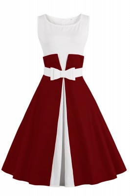 Ronni | Vintage A Line Two-toned 1950s Dress with Bow_2