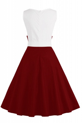 Ronni | Vintage A Line Two-toned 1950s Dress with Bow_24