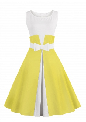 Ronni | Vintage A Line Two-toned 1950s Dress with Bow_4