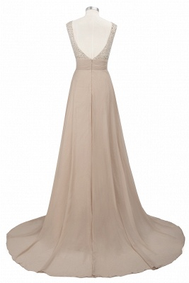 Purple Elegant SLNY Rhinestone Embellished  Backless Pleats Long Evening Dress_9