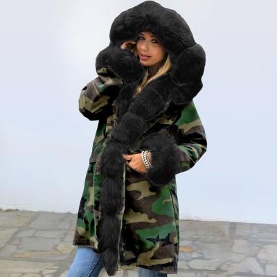 Electric Army Green Faux Fur Chubby Jacket | Superstar Faux Fur Coat in Burgundy/Black/Gray Shawl Collar_7