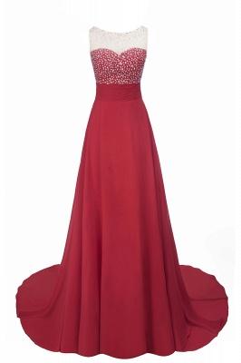 Purple Elegant SLNY Rhinestone Embellished  Backless Pleats Long Evening Dress_7