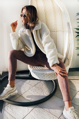 Going out Basic Regular Faux Fur Coat| Solid Colored Stand Long Sleeve Faux Fur White / Brown / Black_18