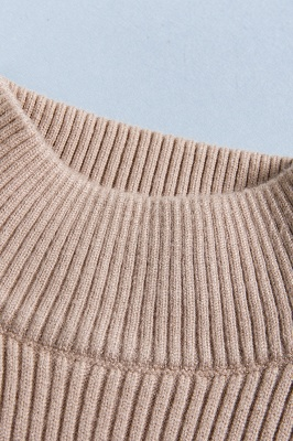 Fitted Top in a fine-knit viscose blend   Long Sleeves Round Neckline Sweater_8