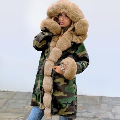 Electric Army Green Faux Fur Chubby Jacket | Superstar Faux Fur Coat in Burgundy/Black/Gray Shawl Collar_2