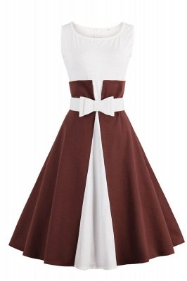Ronni | Vintage A Line Two-toned 1950s Dress with Bow_3