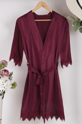 Lace Bridal Robe / Bridesmaid Robes / Robe / Bridal Robe / Bride Robe / Bridal Party Robes / Bridesmaid Gifts / Satin Robe_36