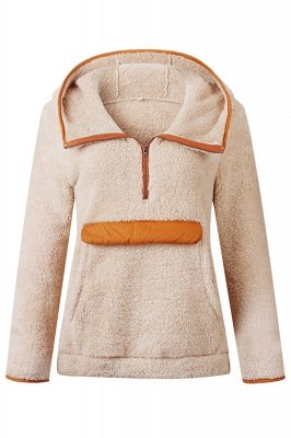 Going out Regular Hooded Fur Coat   Solid Colored Turndown Neck Long Sleeve Faux Fur Pink / Gray / Khaki_2