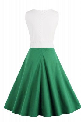 Ronni | Vintage A Line Two-toned 1950s Dress with Bow_36