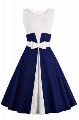 Ronni | Vintage A Line Two-toned 1950s Dress with Bow_5