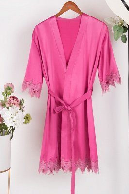 Lace Bridal Robe / Bridesmaid Robes / Robe / Bridal Robe / Bride Robe / Bridal Party Robes / Bridesmaid Gifts / Satin Robe_3