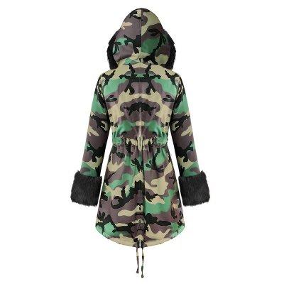 Electric Army Green Faux Fur Chubby Jacket | Superstar Faux Fur Coat in Burgundy/Black/Gray Shawl Collar_22