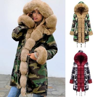 Electric Army Green Faux Fur Chubby Jacket | Superstar Faux Fur Coat in Burgundy/Black/Gray Shawl Collar_41