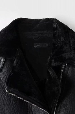 Casual Black Going out Winter Short Fur Coat | Chic Solid Colored Turndown Long Sleeve Faux Fur Coat_12