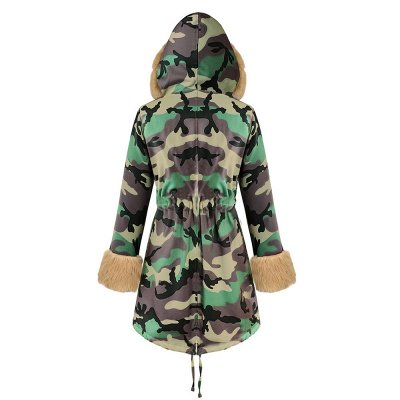 Electric Army Green Faux Fur Chubby Jacket | Superstar Faux Fur Coat in Burgundy/Black/Gray Shawl Collar_35