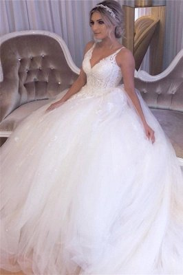 A-line Lace Ball Gown Wedding Dresses | Gorgeous Bridal Gowns_4