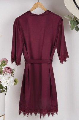 Lace Bridal Robe / Bridesmaid Robes / Robe / Bridal Robe / Bride Robe / Bridal Party Robes / Bridesmaid Gifts / Satin Robe_4