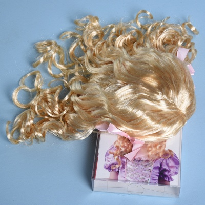 Fashion Blonde Movie Girls Curly Wig for Kids_6