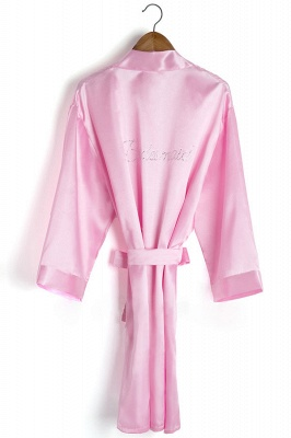 Drover | Personalized Rhinestone Silk Satin Bridal Wedding Bridesmaid Kimono Dressing Gown Robe_4