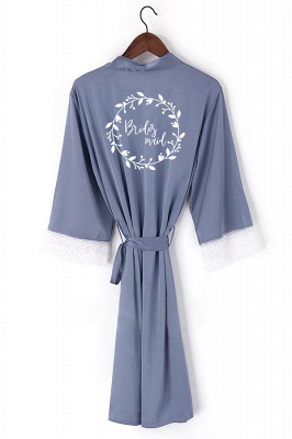 Durnell | Personalized Elegant Lace robe bridal robes silk robe Bridesmaid Robe Flower girl Short