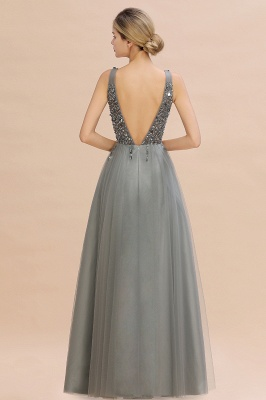 Abina | Sexy V-neck Sparkly Beaded Low Back Prom Dress with Gemstones_11