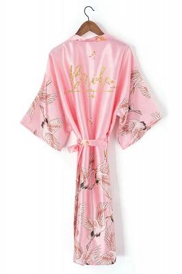 Dyson | Personalized Glitter Print Hot Solid Women robe Silk Satin Robes Wedding Bridesmaid Bride Gown kimono robe