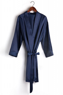 Drover | Personalized Rhinestone Silk Satin Bridal Wedding Bridesmaid Kimono Dressing Gown Robe_9