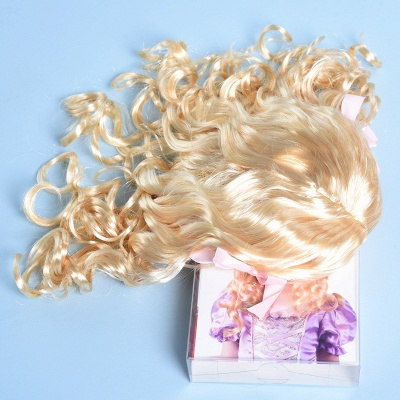 Fashion Blonde Movie Girls Curly Wig for Kids_4