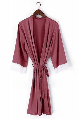 Duke | Non-personalized Silk Satin Floral bridesmaid robes gowns bride bath robe wedding kimono robes_1